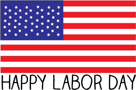 Labor Day Images Clip Art Many Interesting Cliparts - American Flag Labor Day (612x343)
