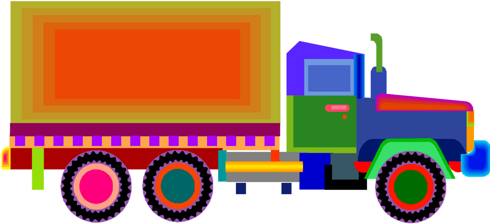 Trucks Pictures For Kidsfun Coloring - Truck Images For Kids (1600x757)