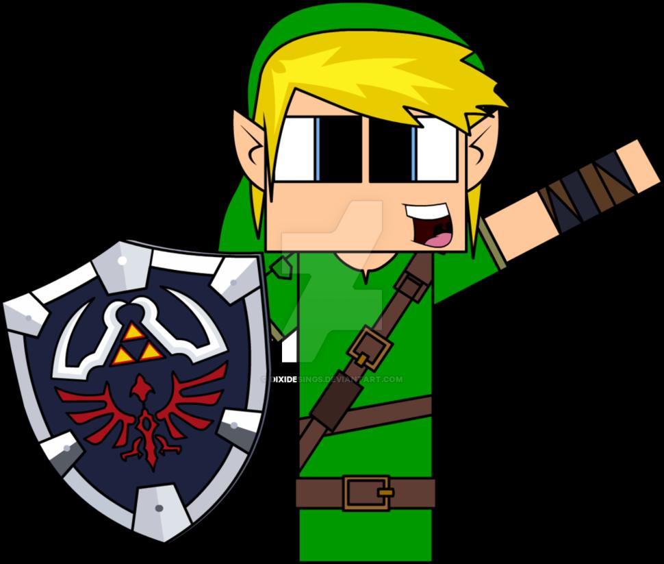 Minecraft Clipart Zelda - Cartoon De Minecraft Do Zelda (970x823)