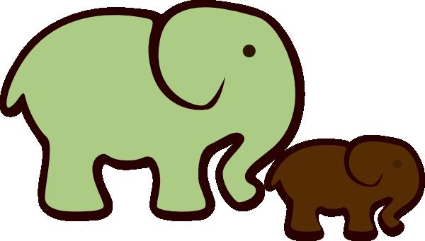 How To Set Use Elephant Mom & Baby Svg Vector - Elephant Clip Art (600x341)
