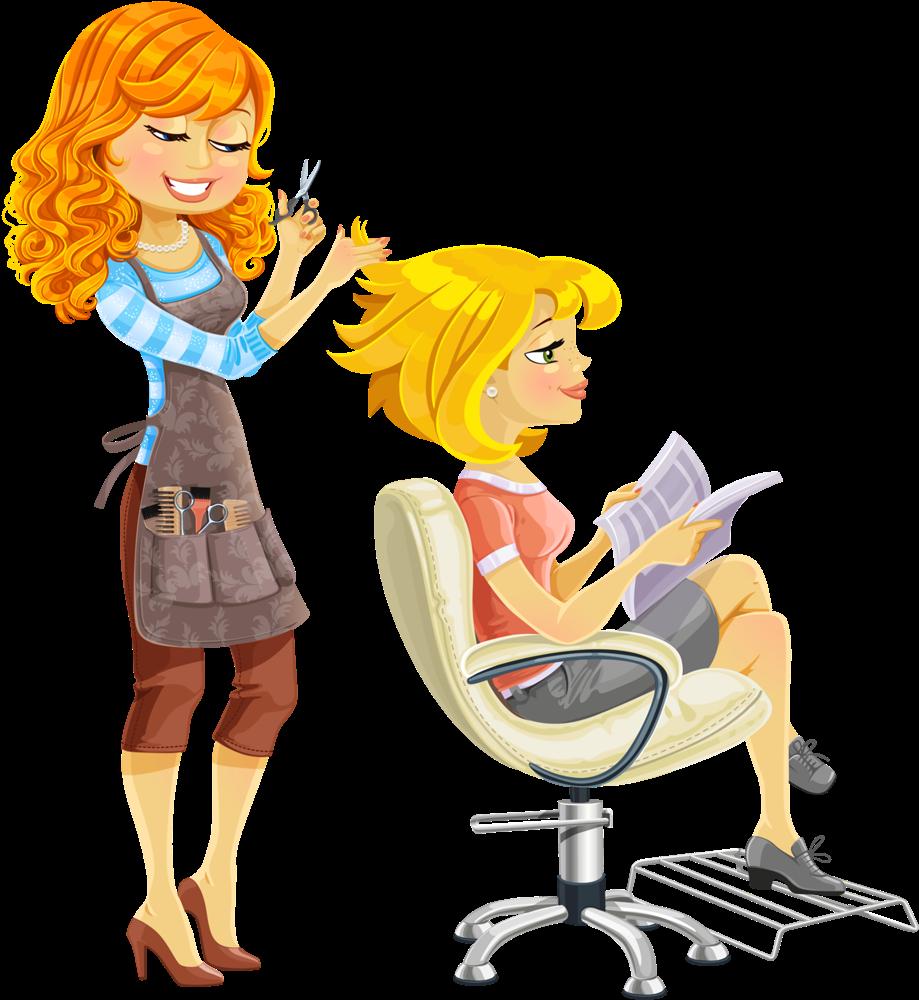 Картинки парикмахеров на прозрачном фоне