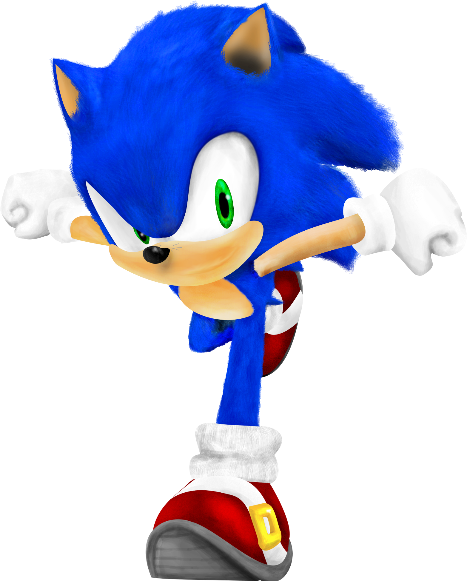 Realistic Sonic By Paleop On Deviantart Realistic Sonic The Hedgehog 1656x2040 Png Clipart Download