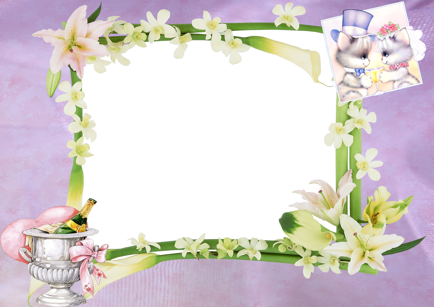 Frames For Photoshop - Wedding Frame In Hd - (1500x1060) Png