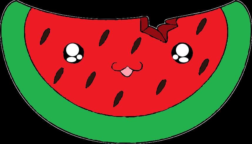 Watermelon Drawing Cartoon Cuteness Clip Art - Cartoon Cute Watermelon (859x859)