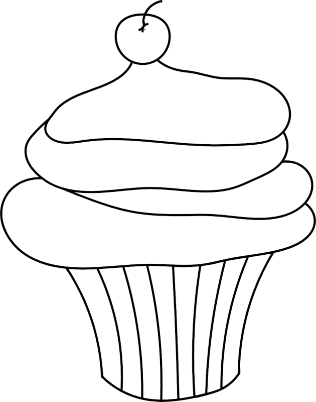 Pin Cupcake Clipart Outline