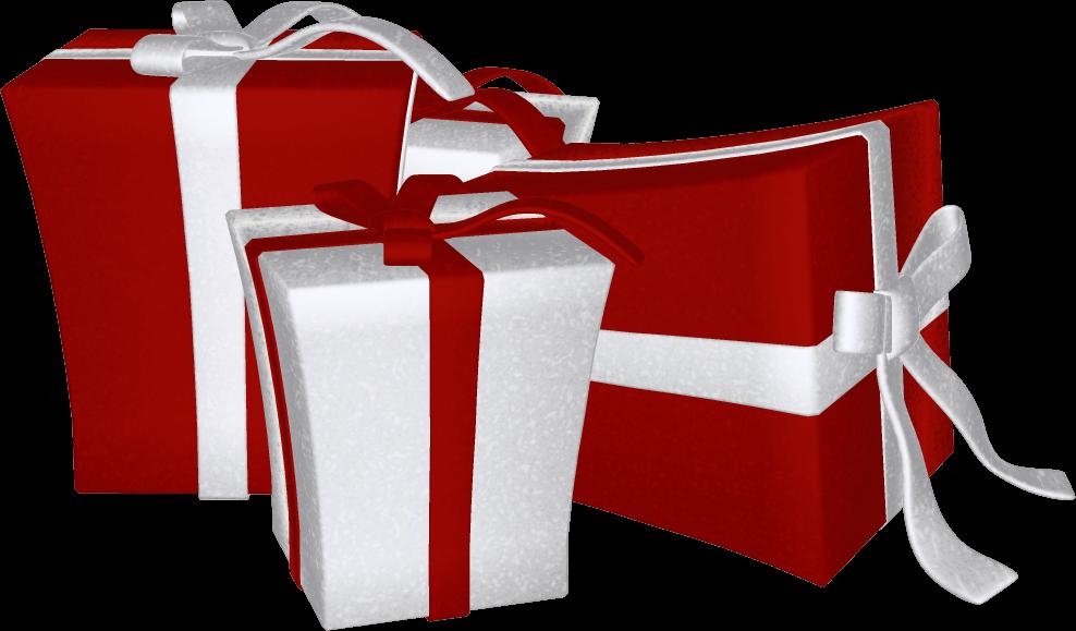 Christmas Presents Clip Art - Happy Holidays Graphics (988x579)