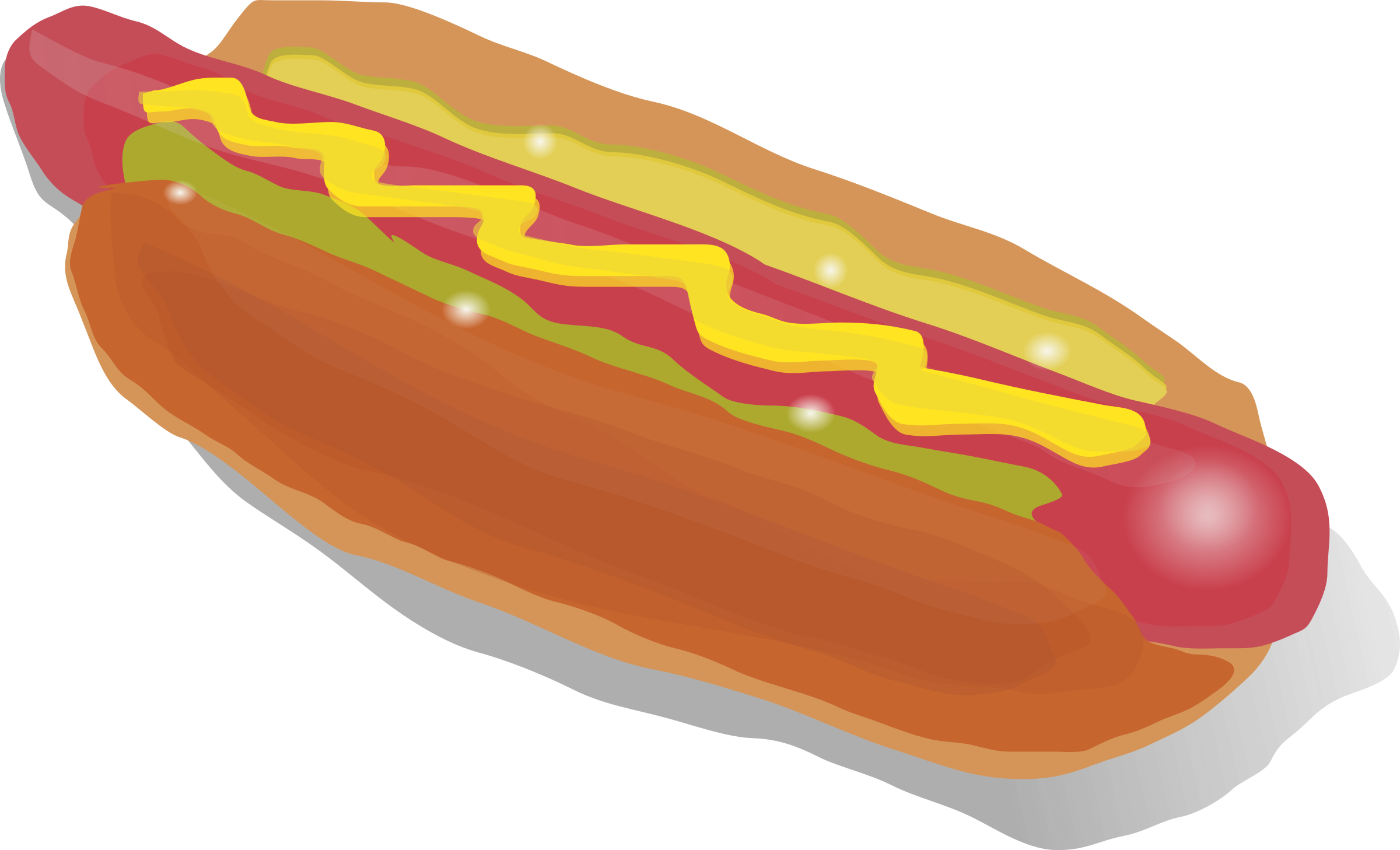 Snack Food - Hot Dog Clip Art Png (2400x1457)
