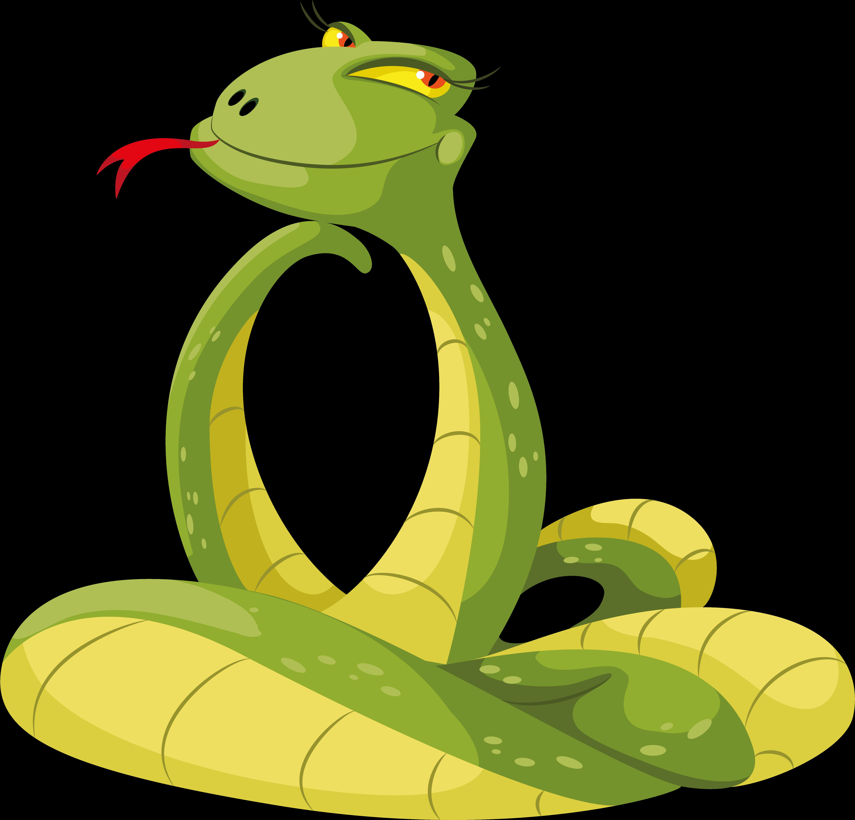 Открытки, рисунок прикольной змеи