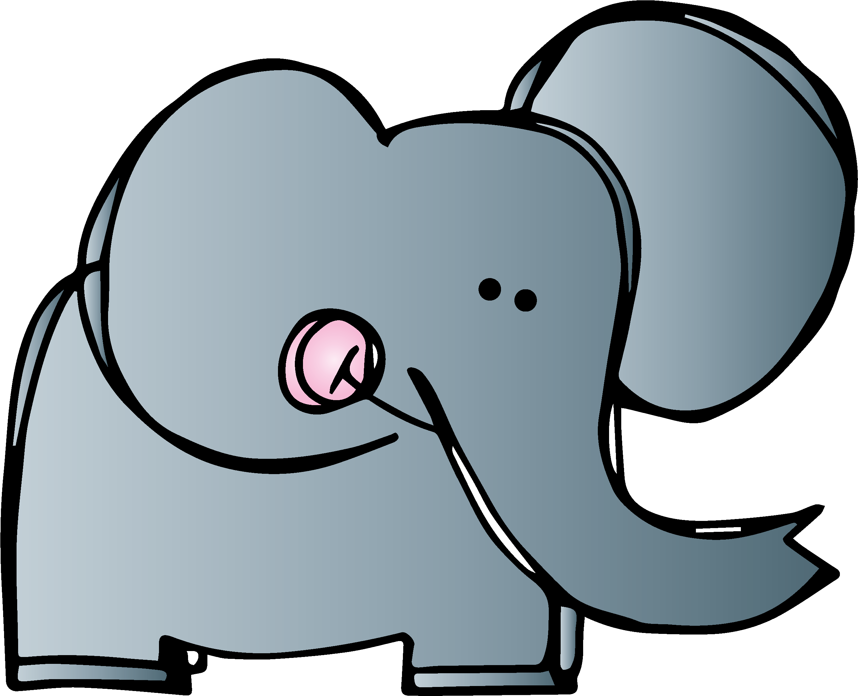 Top Images 2018 Elephant Clipart Images Black And White - Graphics From The Pond Clipart (1600x1330)