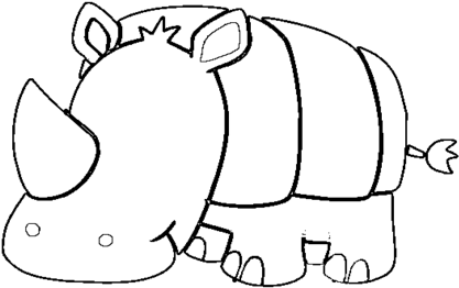 image about Rhino Printable called Most up-to-date Rhino Coloring Web pages Printable Child Web page Coloring