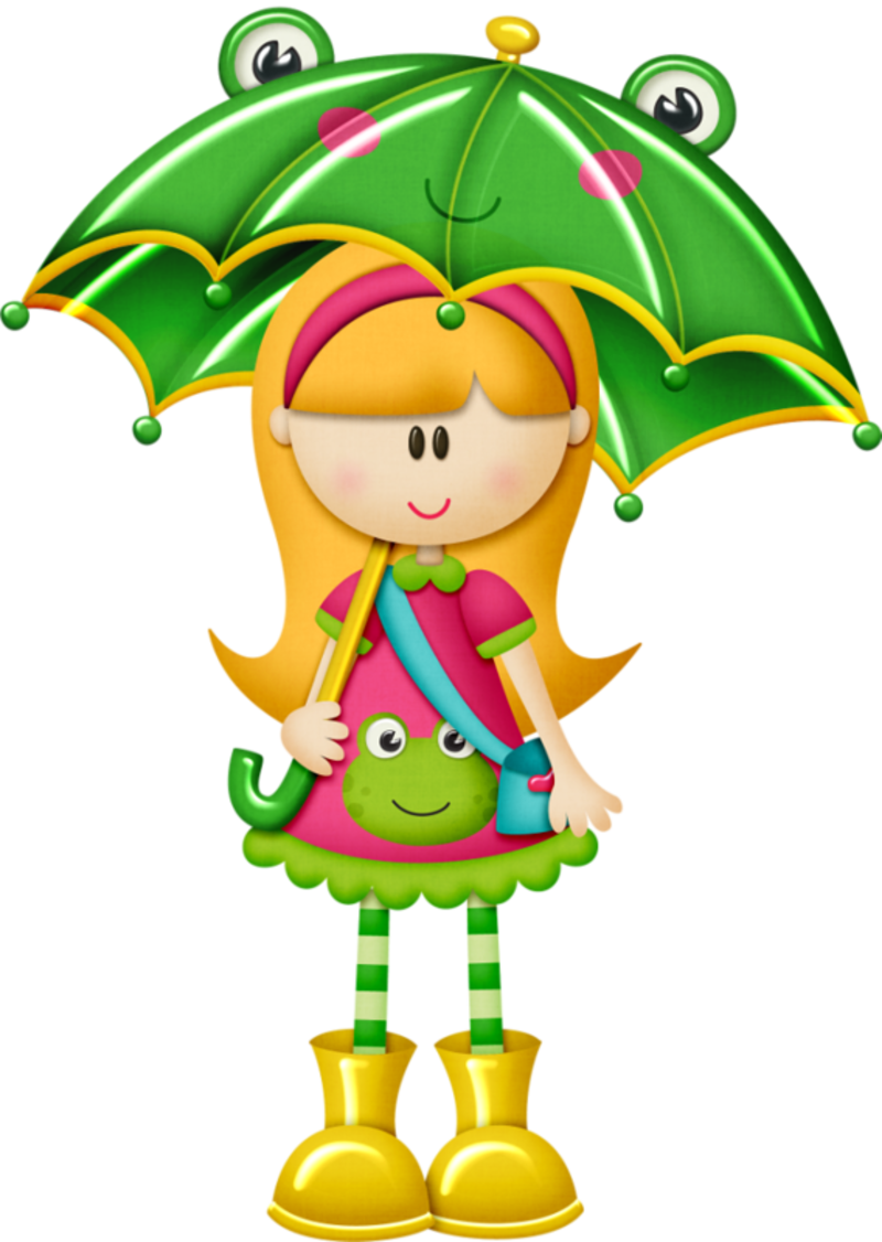April Showers - Kids With Umbrella Clipart (800x1126)