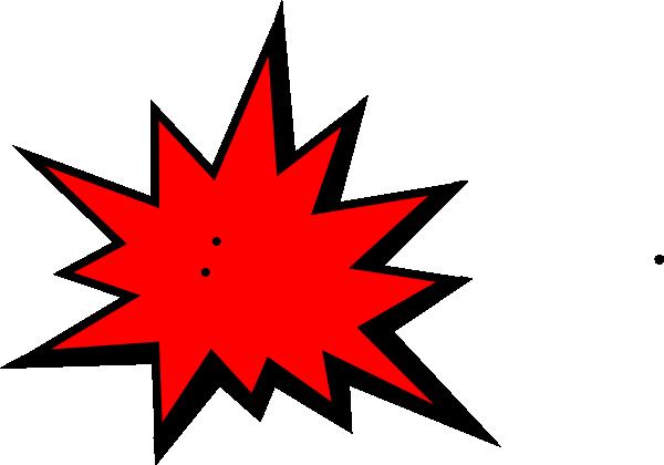 Pow Red Clip Art At Clker Com - Superhero Comic Book Background (600x420)