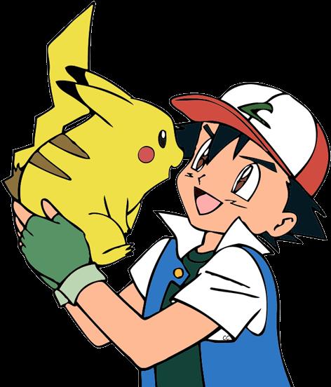 Pikachu And Ash (484x554)