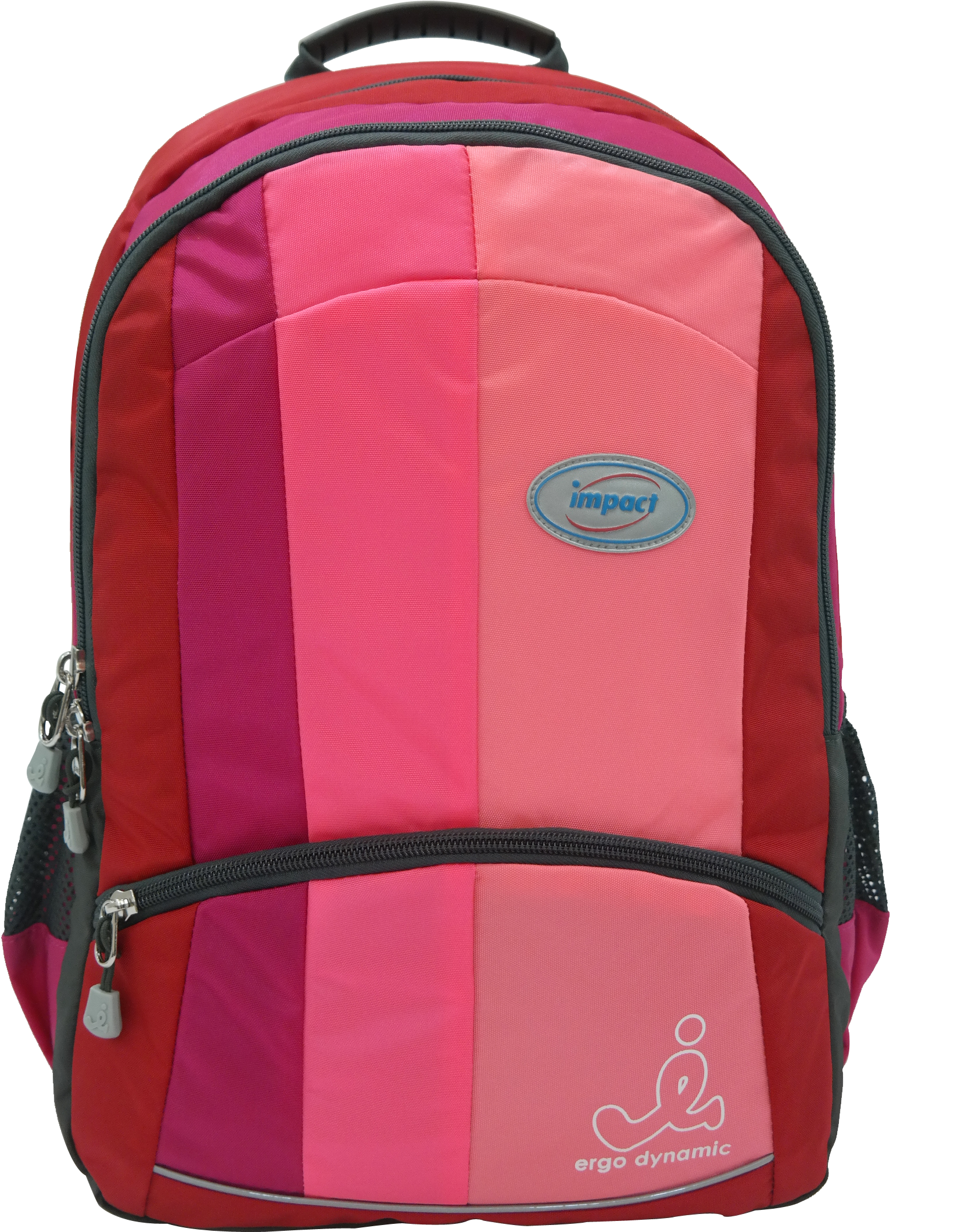 Impact Ergonomic Backpack Ipeg-130 Pink - Impact School Bags Singapore (1835x2535)