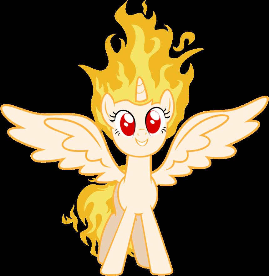 картинки огня пони