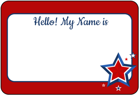 Name Tag Label Templates Hello My Name Is Templates - Name Tag Design For  Boys - (500x353) Png Clipart Download