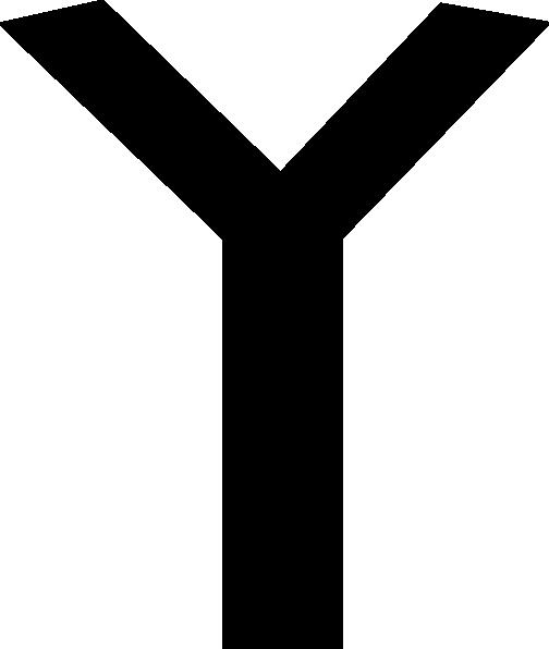 Free Vector Old Turkic Letter L Clip Art - Clip Art Letter Y (504x596)