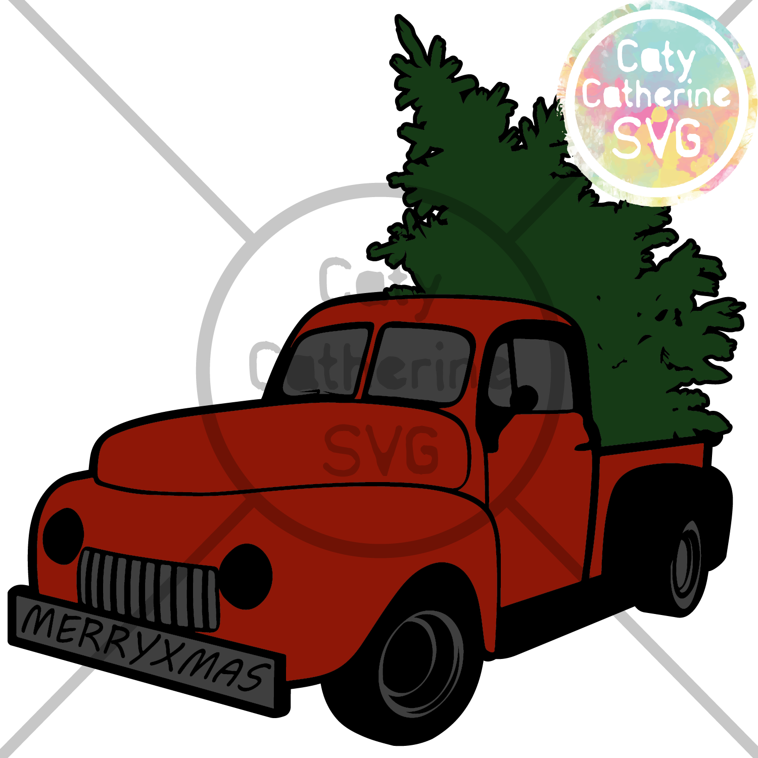 Christmas Tree Truck Svg Free.Commercial Use Free Svg Files Designed By Caty Catherine