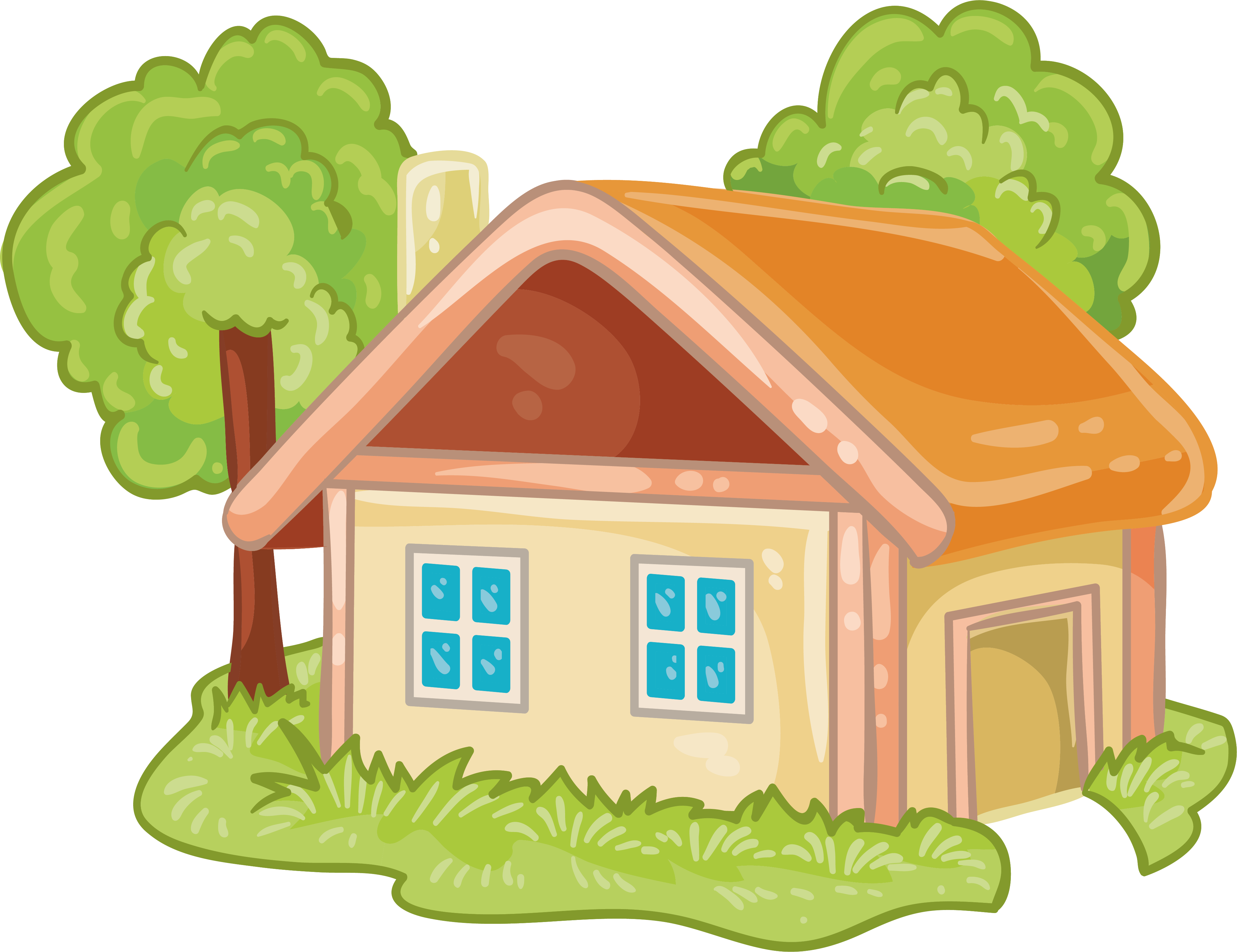 Картинка ребенок в домике