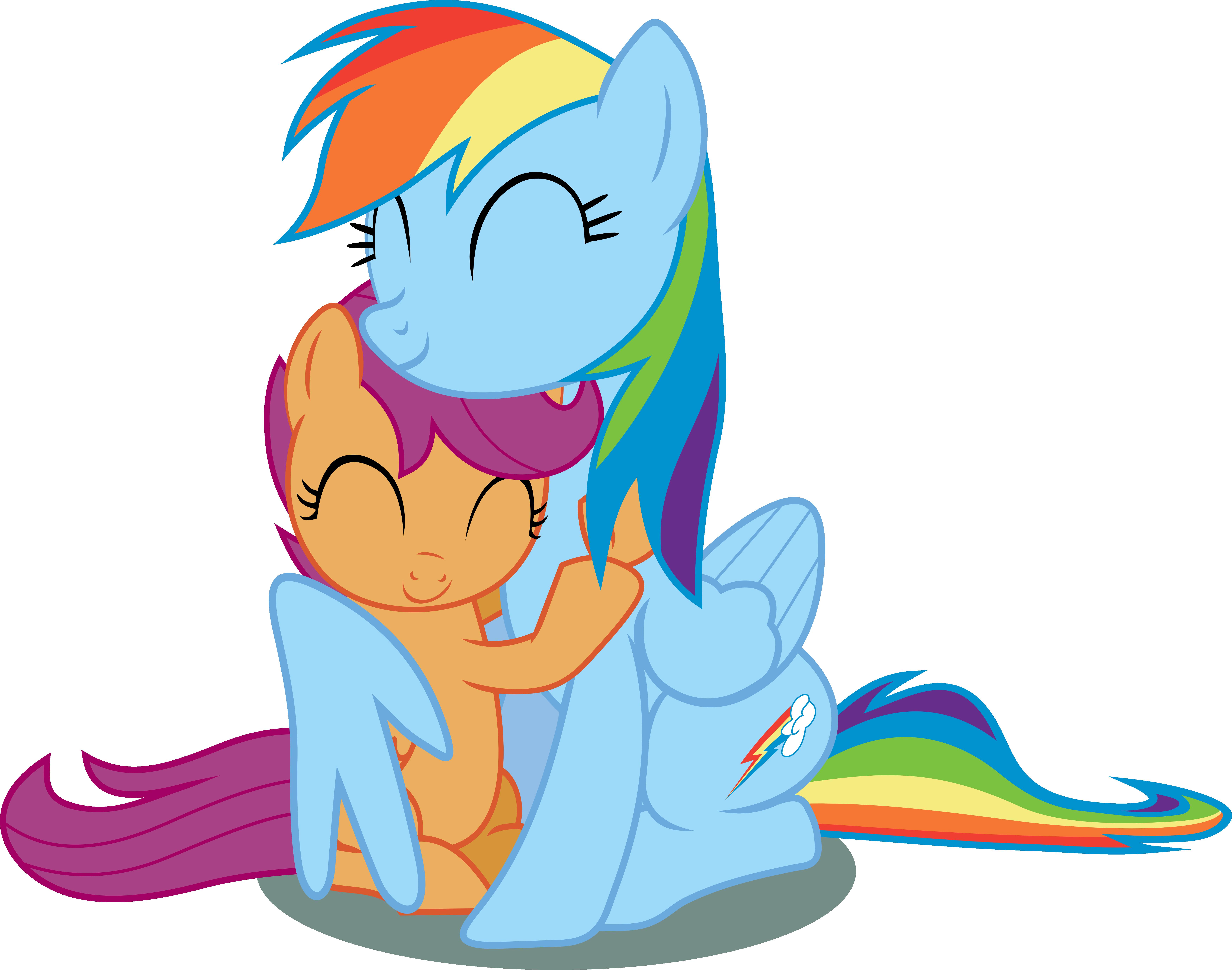 Дружба это чудо картинки радуга и скуталу покушается
