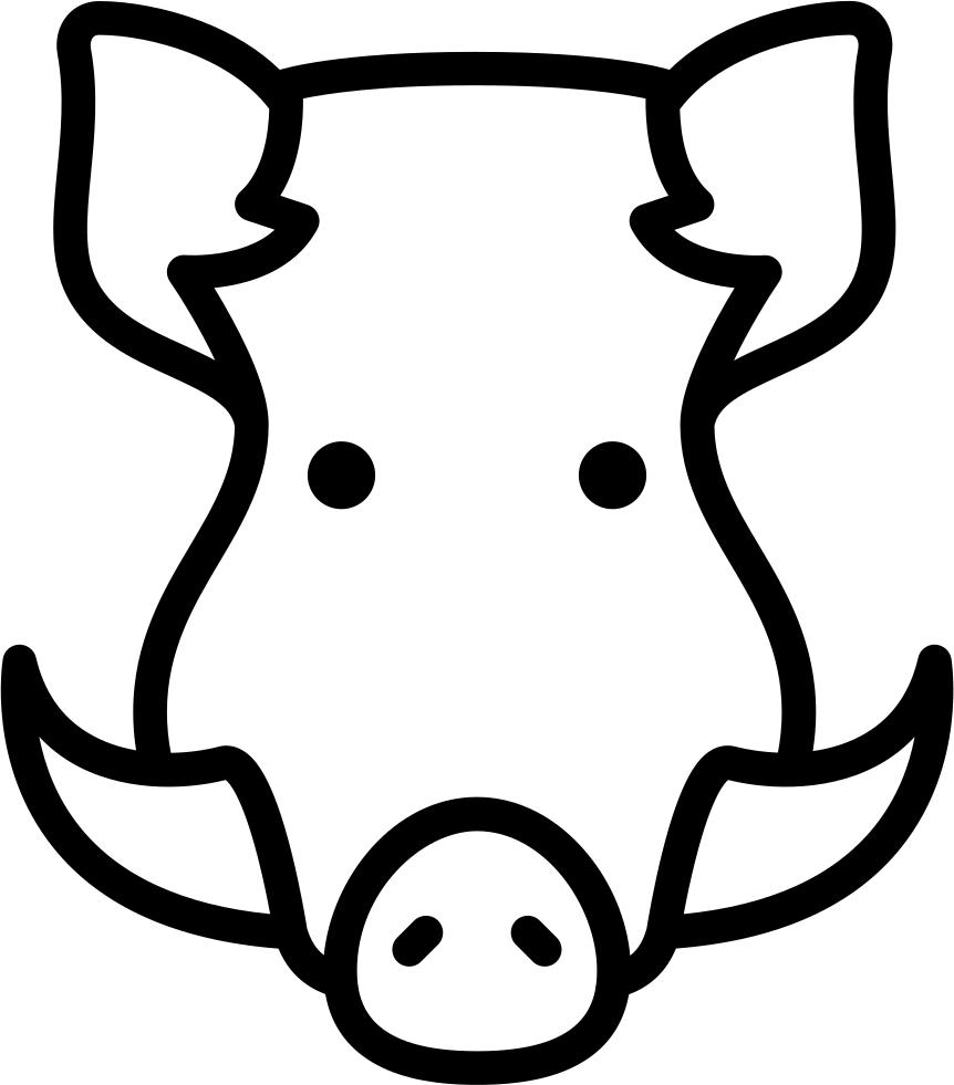 Png File - Icono Jabali (862x981)