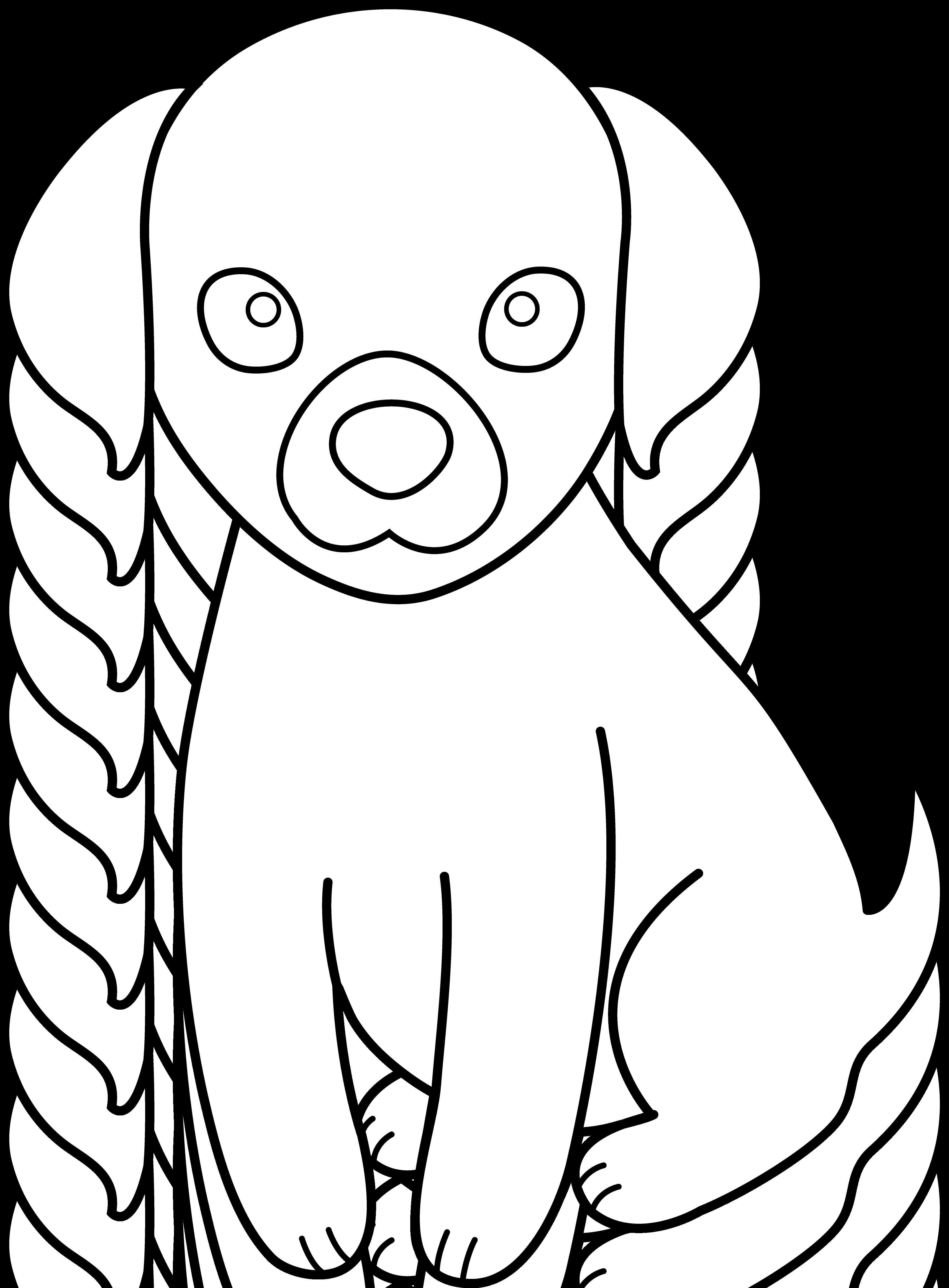 Картинки щенков для срисовки, любовью