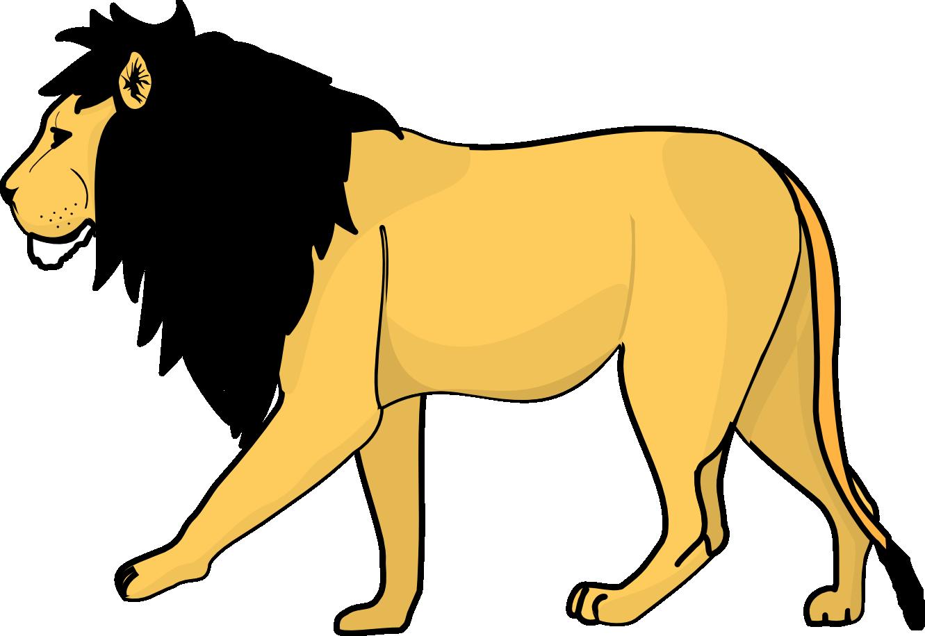 Lion Line Art Openclipart - Lion Png Clipart (1331x916)