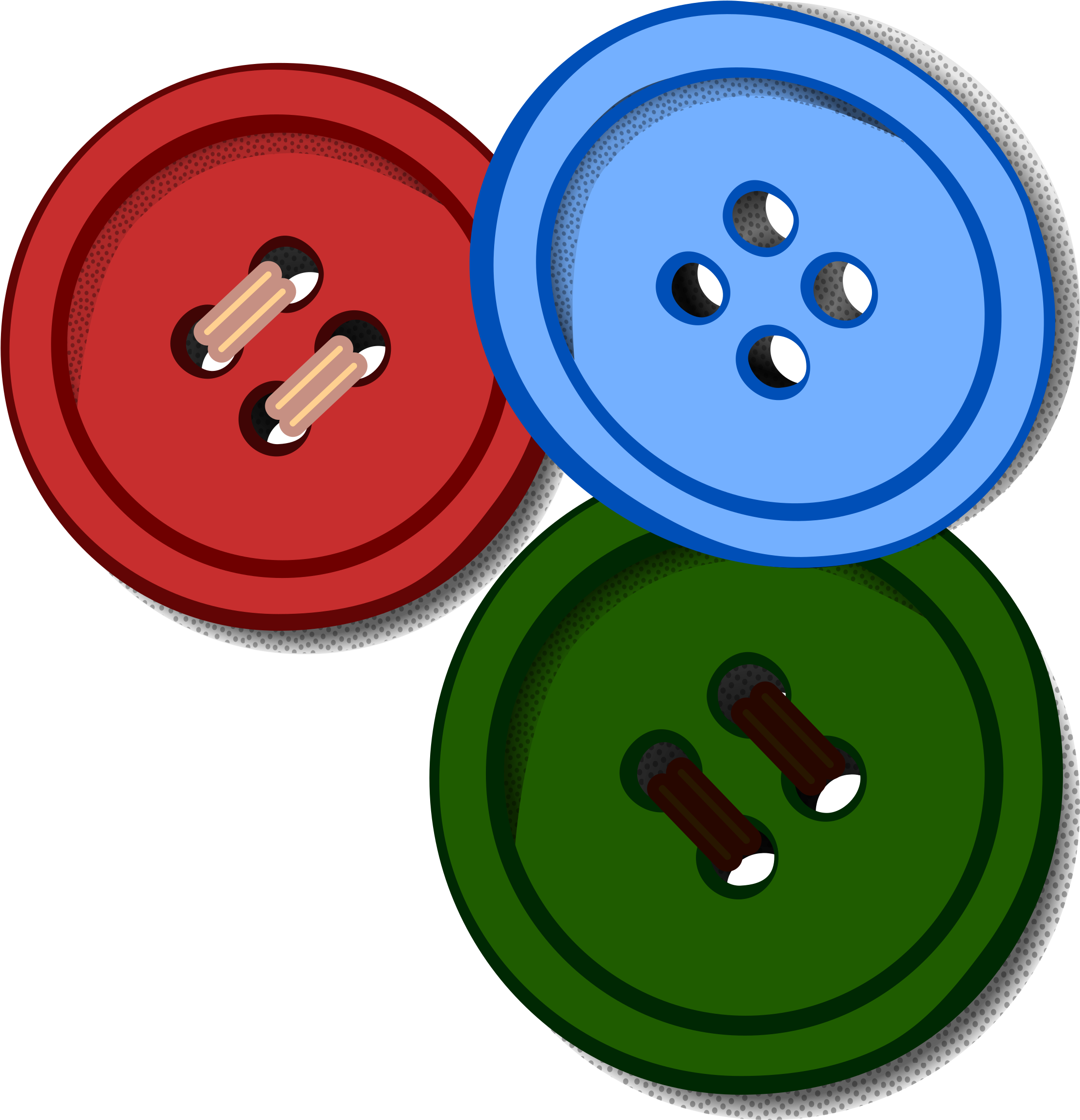 Clipart - Buttons Clipart (2400x2400)