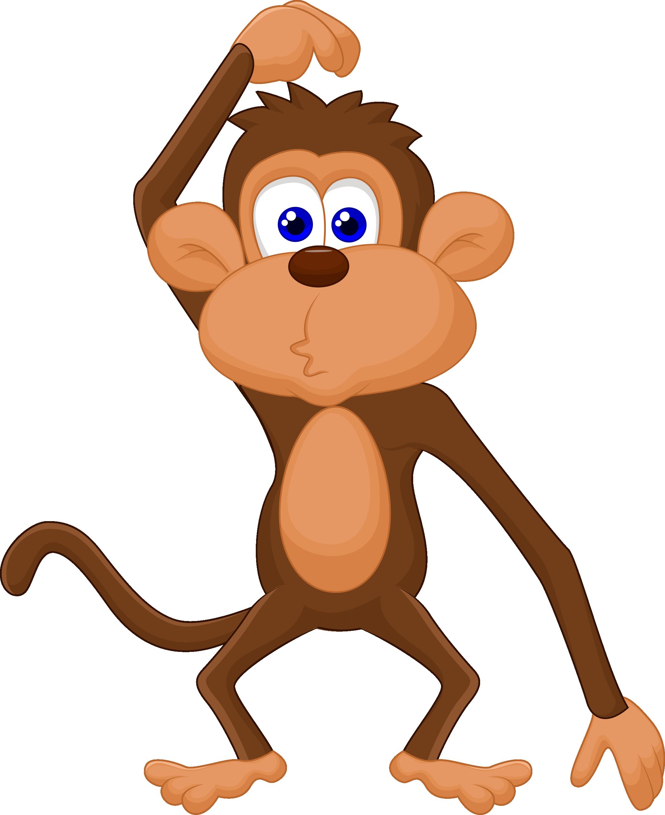 Добрым, обезьяны рисунок