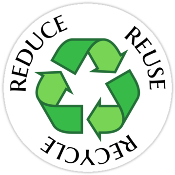 graphic about Printable Recycle Symbol named Avoid Reuse Recycle Logo Printable - Protect against Reuse Recycle
