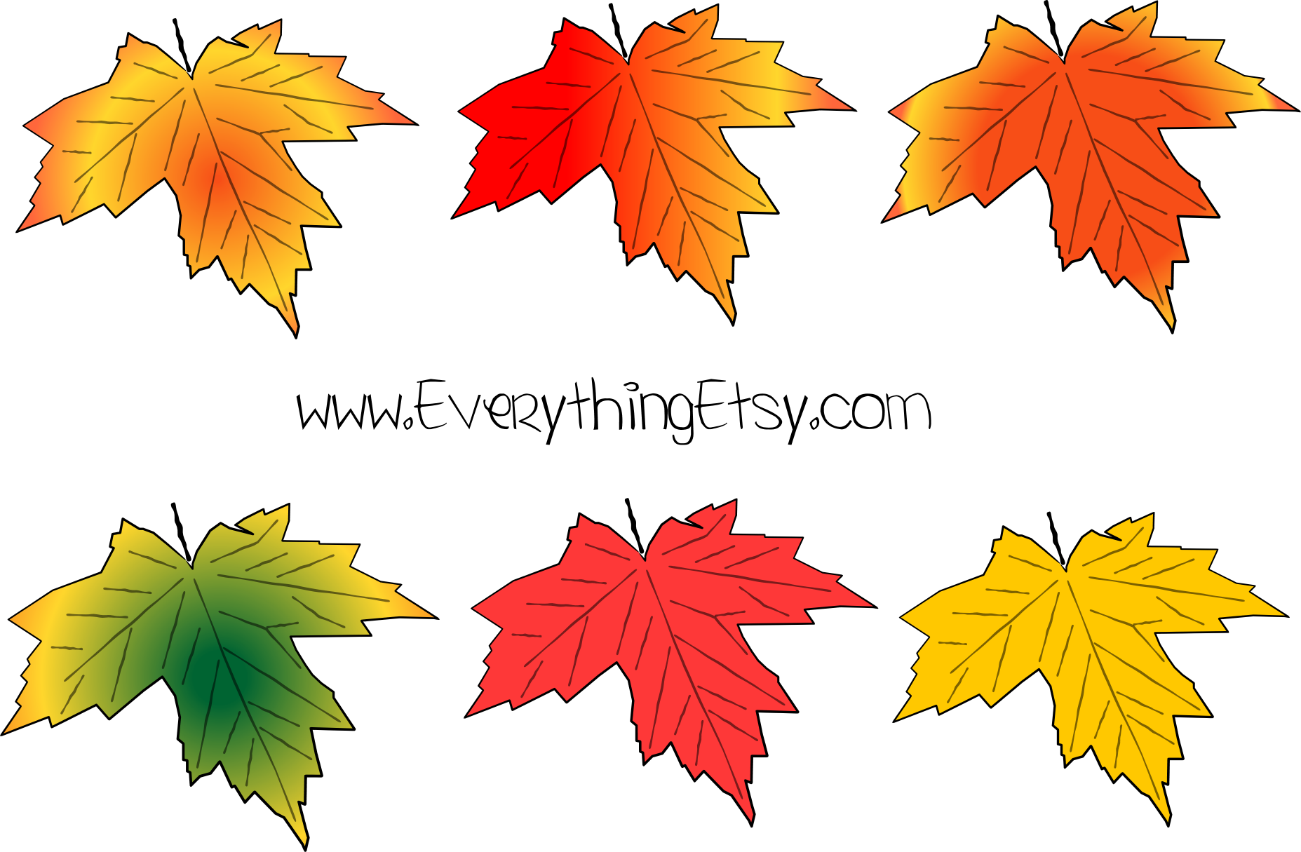 - Fall Leaves Vector Graphic - Large Fall Leaves Printable