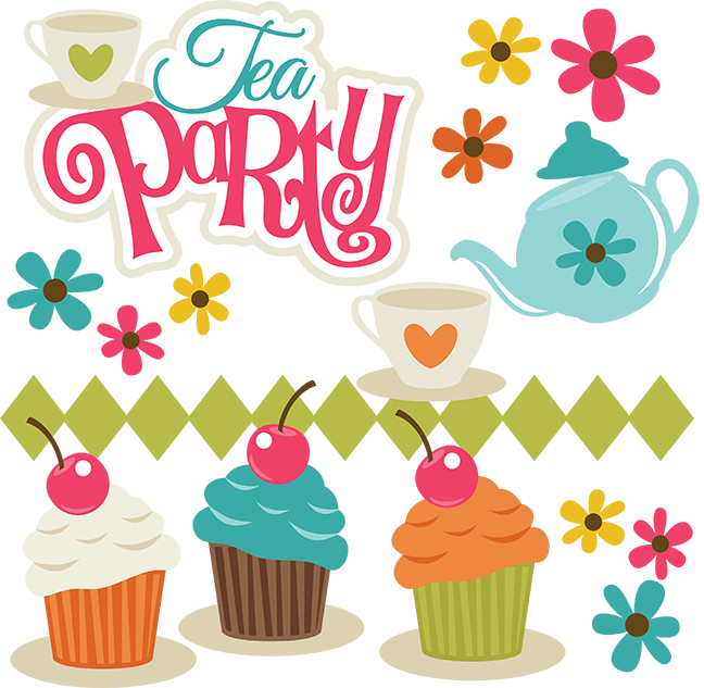 Tea Party Clipart Png (648x633)