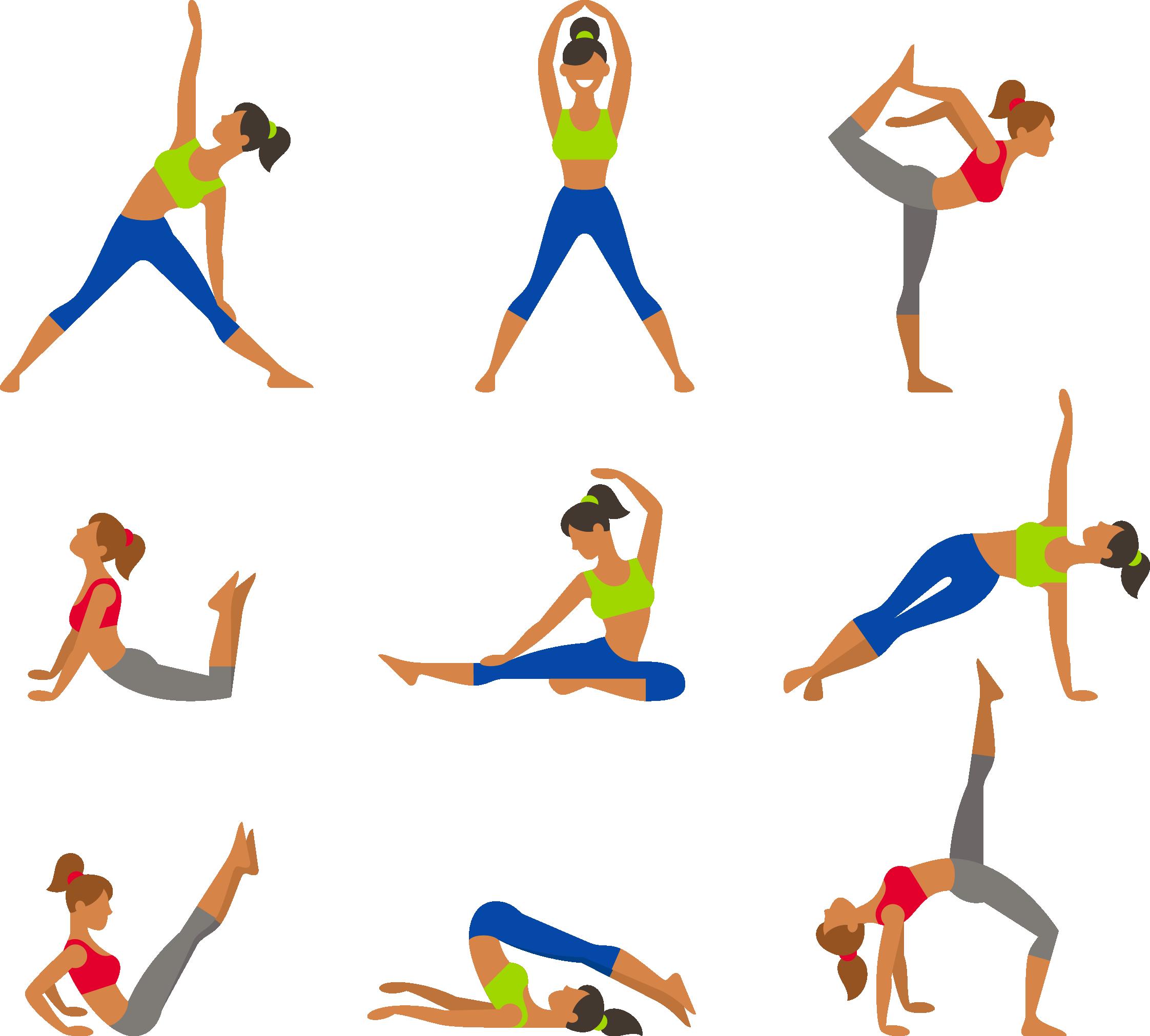 Движения для йоги в картинках для начинающих