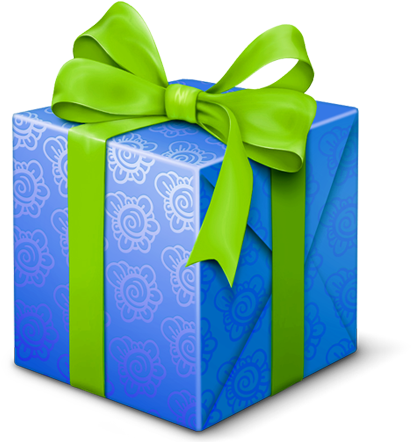 Birthday Gifts Icons 512×512 [png Files] - Gift Box Green And Blue (600x449)