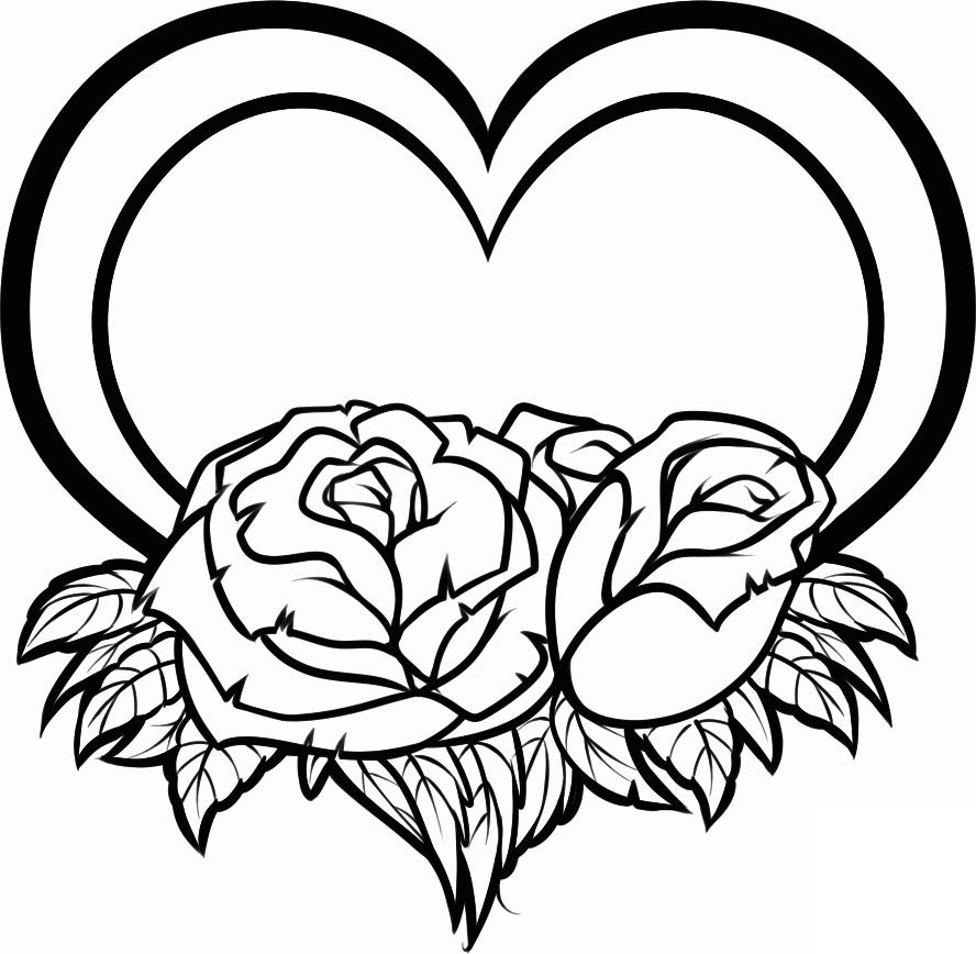 день валентина рисунок карандашом