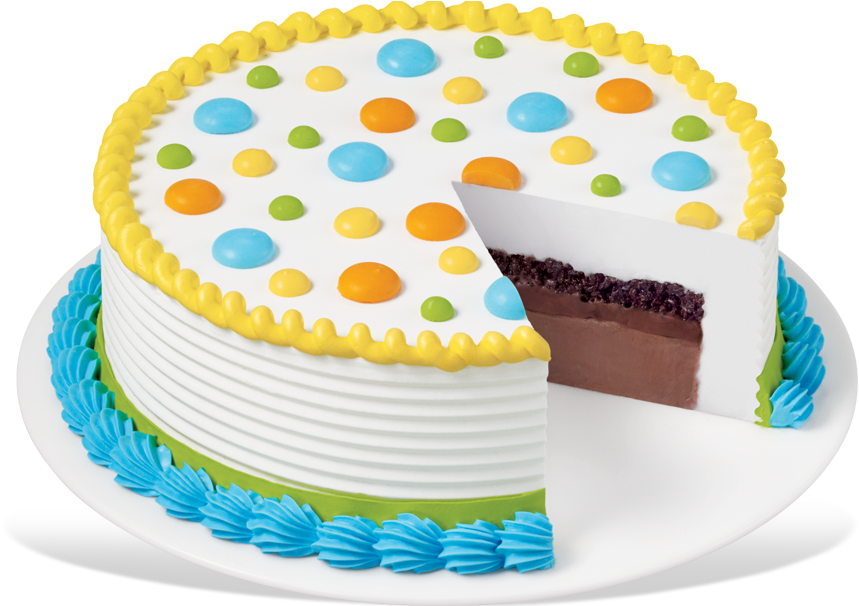 Dq® Round Cake Dq Cakes Menu Dairy Queen, Baby Shower - Dairy Queen Ice Cream Cake (940x605)