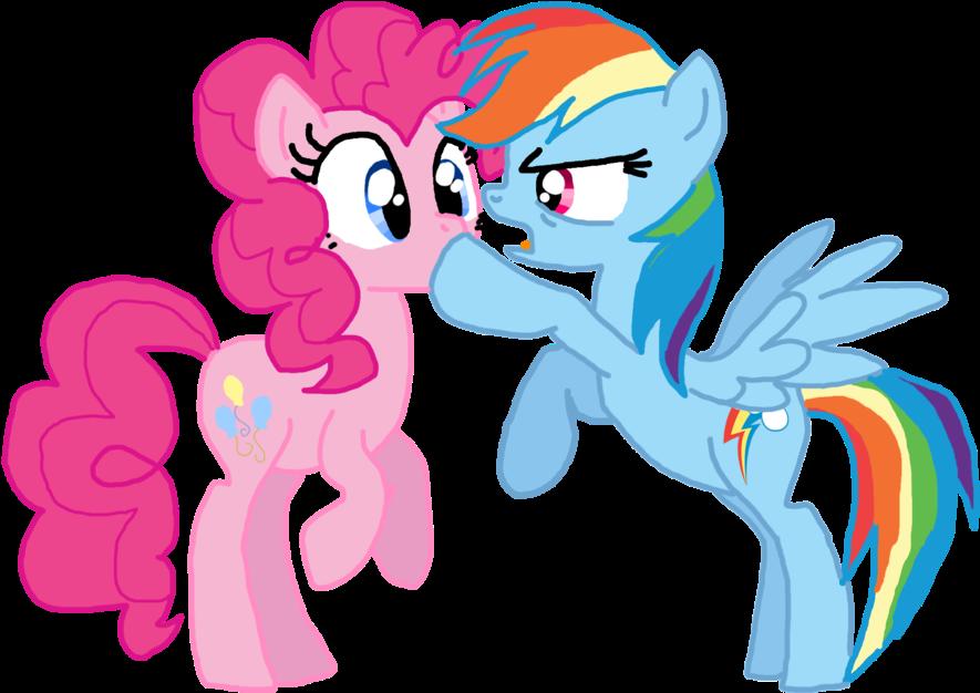 Картинки пинки пай и радуги