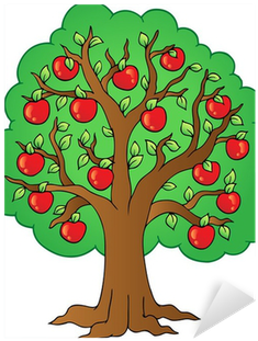 Tree With Apples Drawing (400x400)