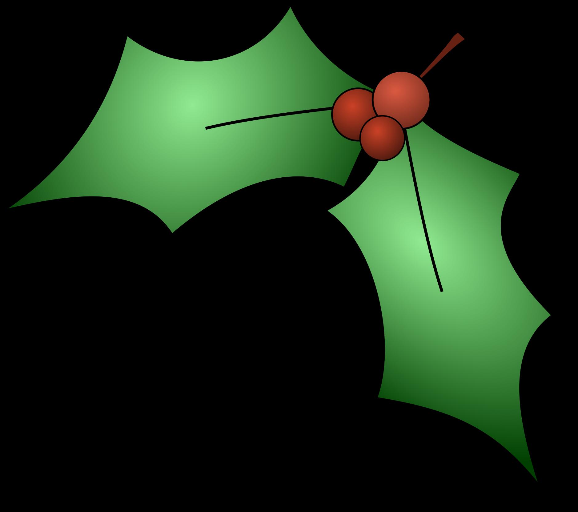 Open - Christmas Holly Clip Art (2400x2182)