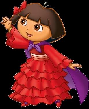 The Explorer Christmas Clipart - Dora Saves The Snow Princess (325x383)