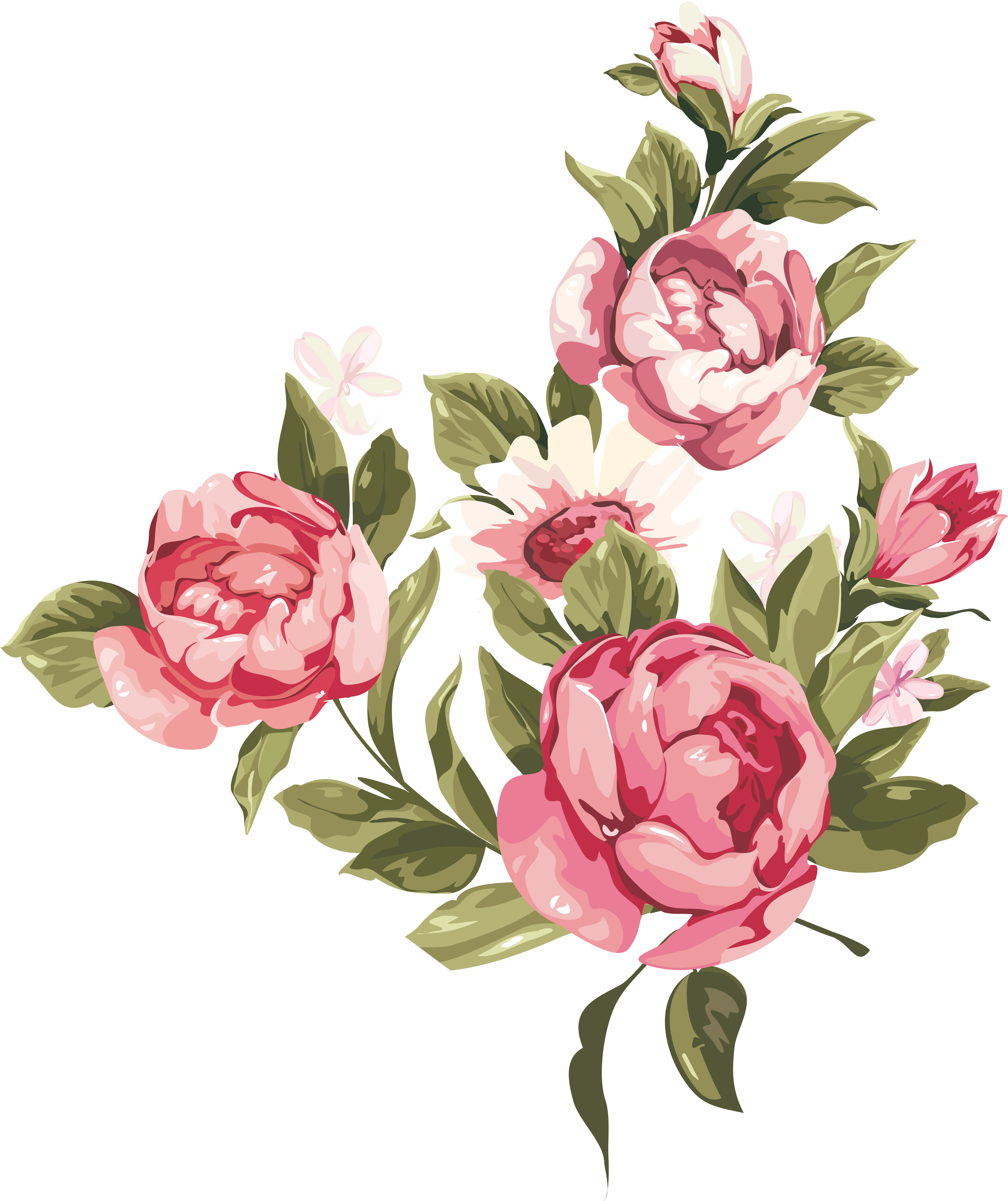 Wedding Invitation Greeting & Note Cards Friendship - Shabby Chic Roses Png (5076x6080)