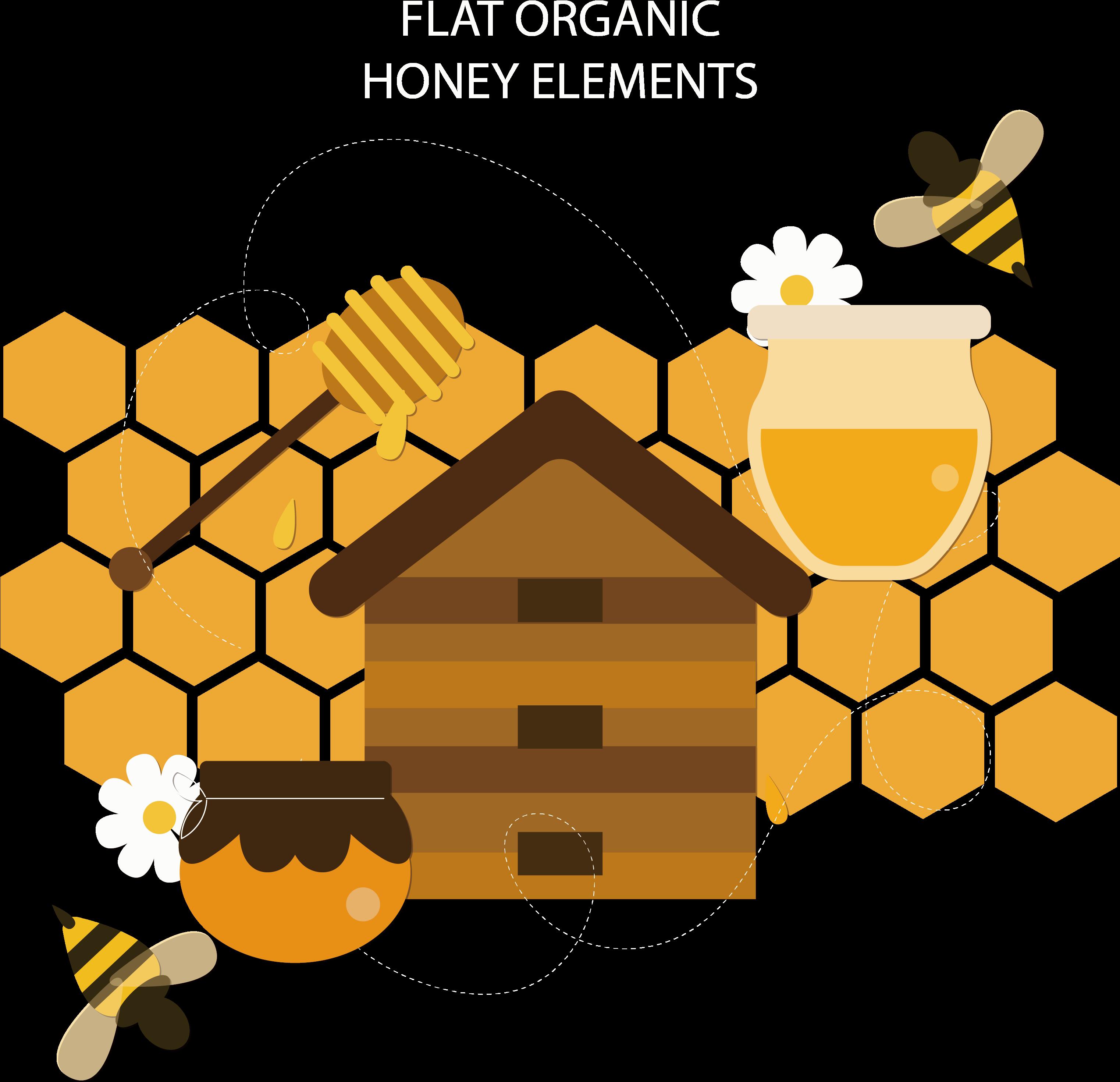 Пчелы улей картинки вектор