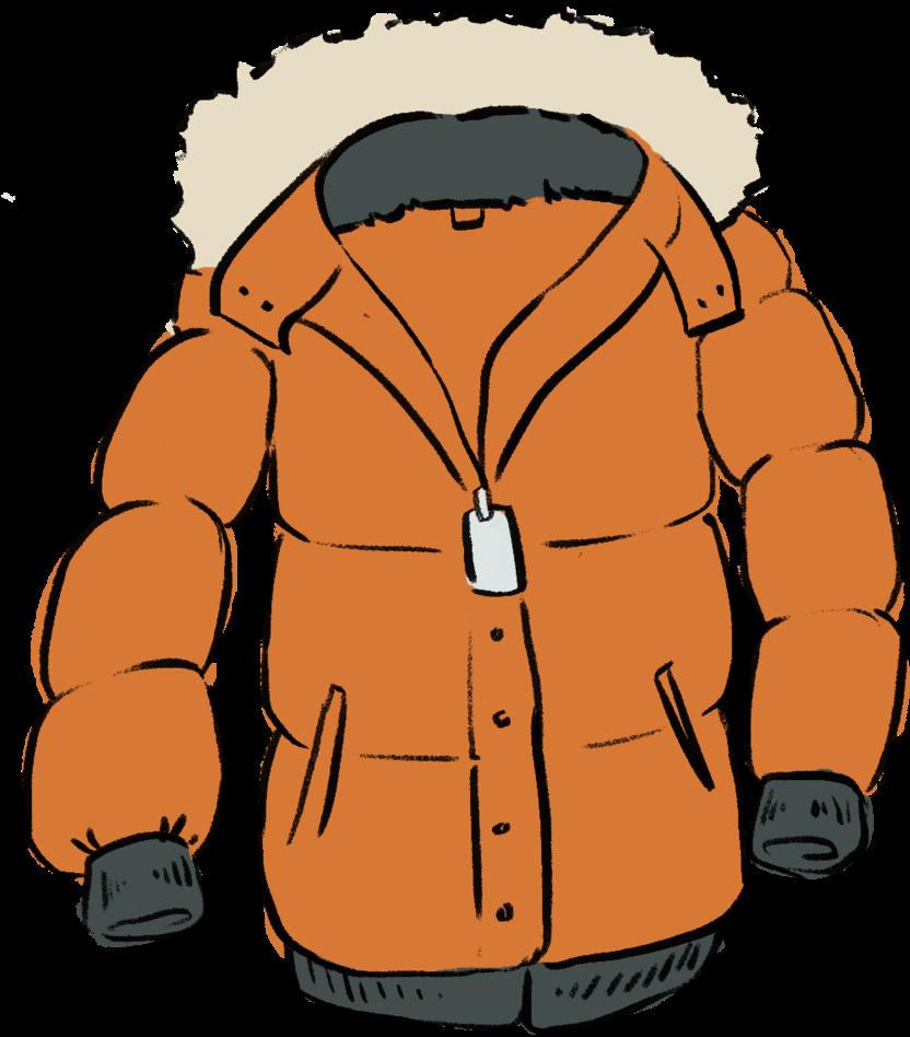 Winter Jacket Clipart - Winter Coat Clipart Png (1000x1000)