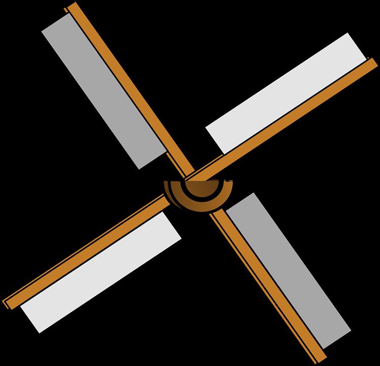 Windmill Blades Isolated Power Energy Wind - Helice De Molino De Viento (748x720)