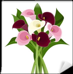 Bouquet Of Colored Calla Lilies - Calla Lili Clipart (400x400)