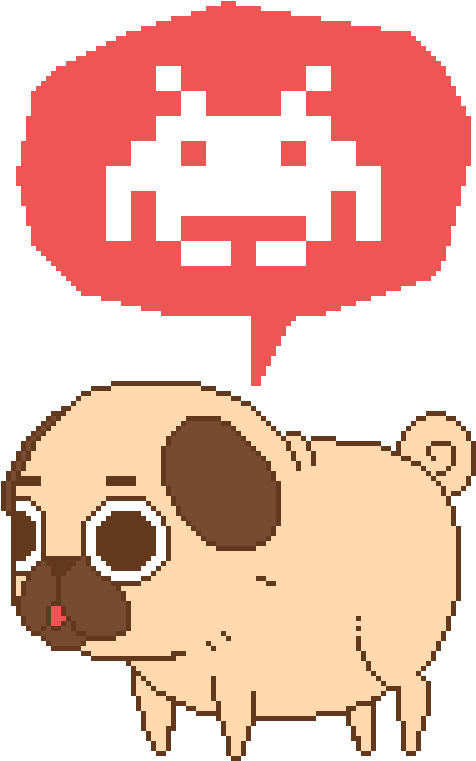 Puglie Was Testing Out The Pixel Life For A Really - Space Invaders Alien Sprites (500x825)