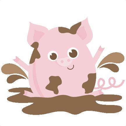 Mud Clipart Cute Pig - Mud Pig Clipart (432x432)