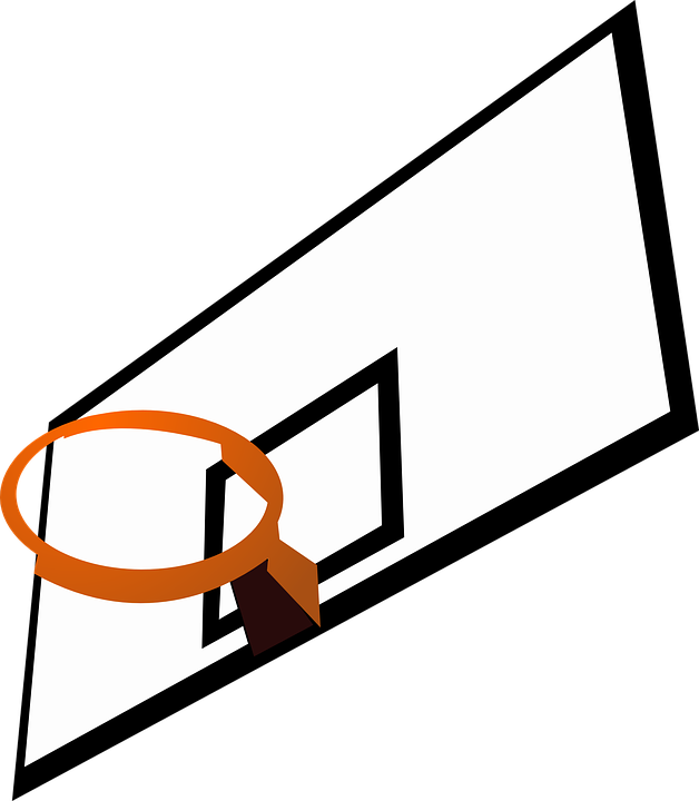 Clip Arts Related To - Basketball Hoop Clip Art (628x720)