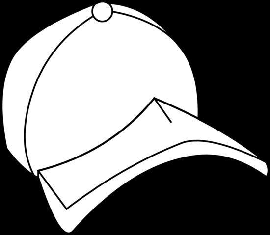 Baseball Hat Baseball Cap Coloring Page Free Clip Art - Cap Clipart Colouring (550x479)