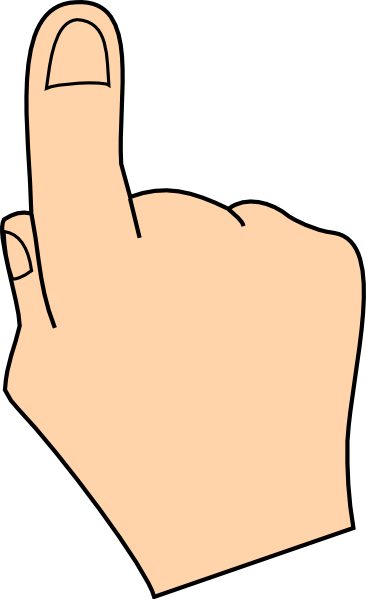 Finger Clip Art At Clker - Pointing Hand Clip Art (366x599)